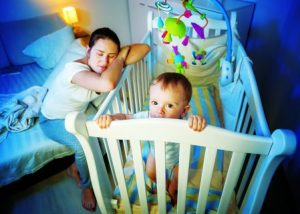 babies don't learn to self settle on their own in their cots