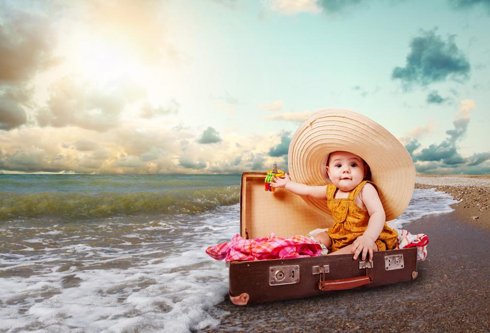 holiday baby beach